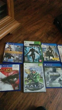 six assorted PS4 and xbox games