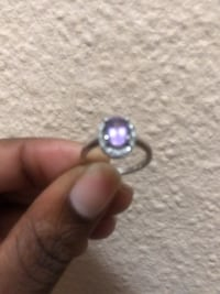 Real silver Beautiful 10Kt ring with purple pinkish dimond Mississauga, L4X 1T2