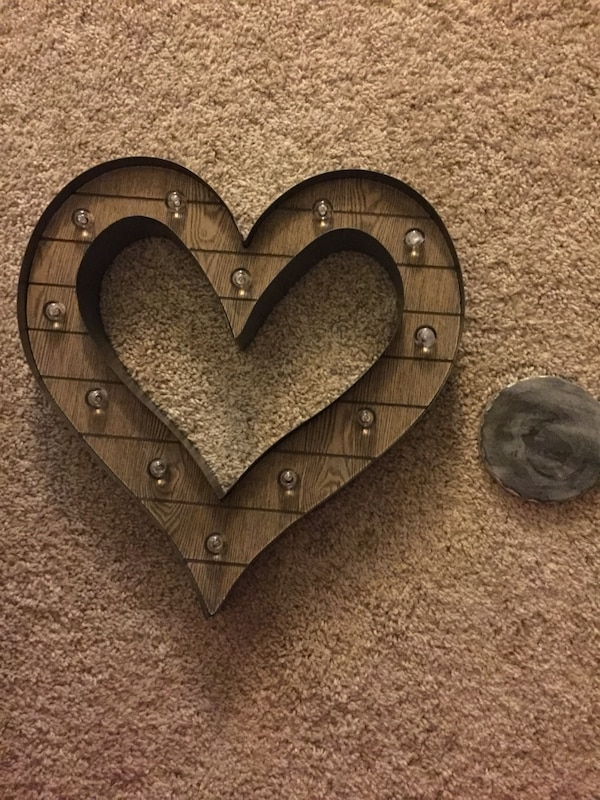 Decorative light up wall heart from hobby lobby