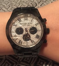 Michael kors black watch with rhinestone face  Vancouver, V5X 1H2