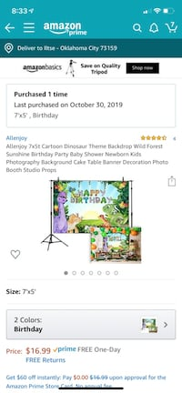 Dinosaur backdrop and table covers 3 table covers only set 1 out Oklahoma City, 73159