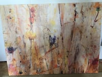 beige, orange, and white abstract painting Clifton, 07013