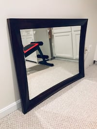 rectangular black wooden framed mirror Fairfax, 22031