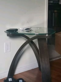 Two glass end tables $40 for both  Brampton, L6R 1N8