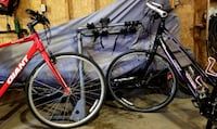 His and hers bikes and accessories.  Hudsonville