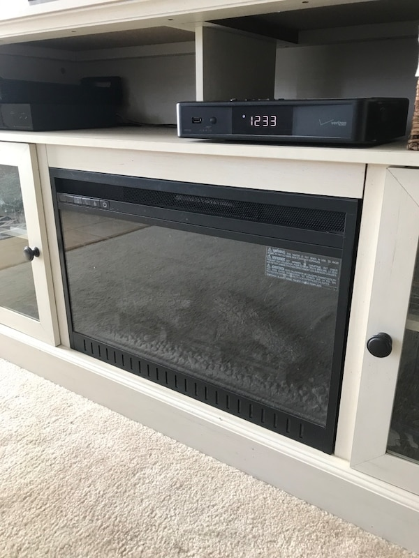 TV STAND WITH ELECTRIC FIREPLACE INSTALLED 51b2d868-4d3c-46a4-a366-8eb5c694180e