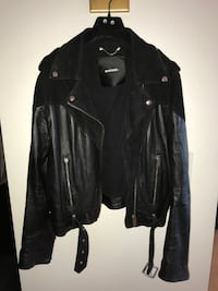 Diesel Classic Mix Material Black Suede & Leather Jacket Toronto
