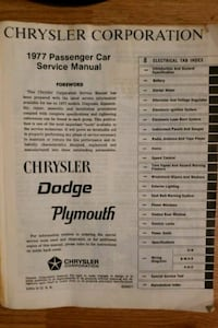 77 Dodge electrical service manual full all pages Gaithersburg, 20878