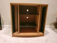 TV STAND WITH CD SHELVES