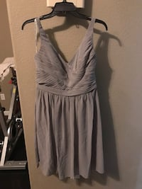 David's bridal grey bridesmaid dress Crockett, 94525