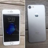 Silver iphone 7 32 GB med kartong