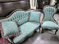 Early 1900s Settee and Chair