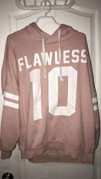 Pink and white hoodie size:small