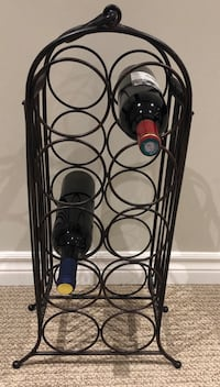 Elegant wine rack.