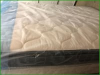 King size Pillowtop mattress with box and frame Raleigh