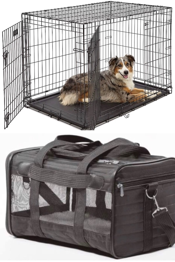 """42"""" NEW Dog Kennel + Sherpa Carrier"""