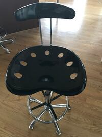 stainless steel and black swivel chair Oakton, 22124