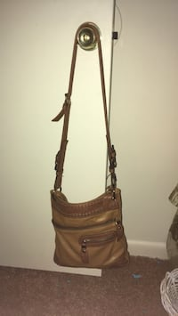 brown leather crossbody bag with fringe Middletown, 17057