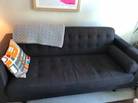 tufted black fabric 2-seat sofa Greater Vancouver, V6S