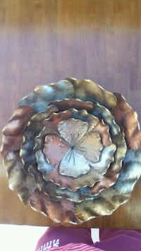 metal wall art for house or patio about 12 to 16 inches round