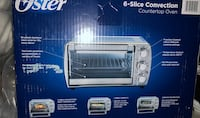 Oster 6-slice  convection oven brand new in box