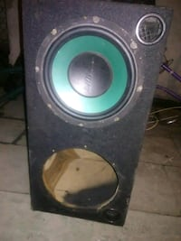black and green subwoofer speaker Compton, 90220