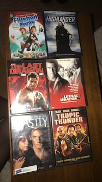 four assorted DVD movie cases Dallas, 75217