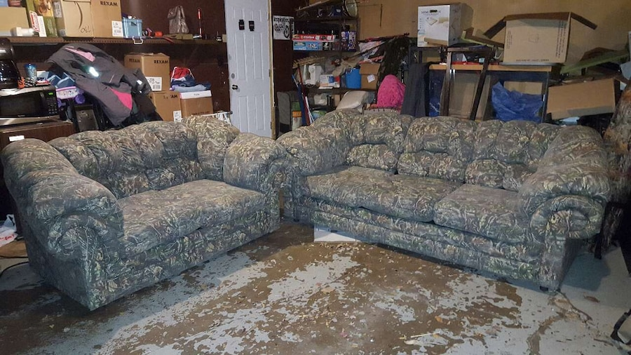 Camouflage Sofa And Love Seat