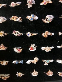 gold plated crystal rings $5 each or 3 for 10 Phillipsburg, 08865
