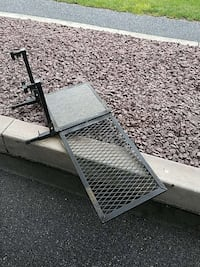 black metal hitch cargo carrier