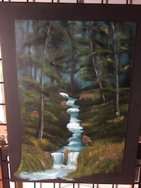 Forest stream Original Canvas  Jackson, 08527