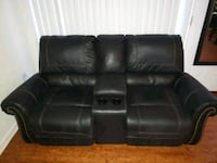 black leather home theater loveseat Washington, 20002