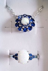 Opal and sapphire necklace and ring set Baltimore, 21224