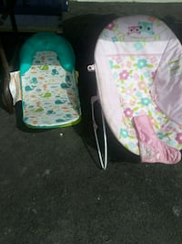 baby's white and green bouncer West Valley City, 84120