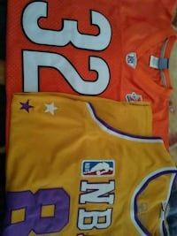 LOs Angeles Lakers and Benson(orange jersey)