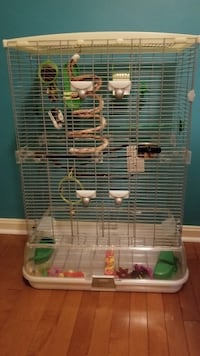 Vision Bird cage, bird cage stand and bird accessories.