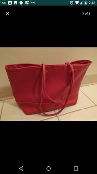 Large red Avon purse / tote