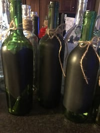 3/$10 wine bottles home decor Houston