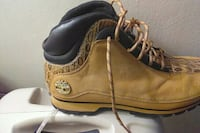 pair of brown Timberland work boots Louisville, 40211