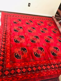 Red and black area rug 22 km