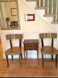 Decorative Accent Table and 2 Matching Chairs and Mirror Fairfax Station, 22039