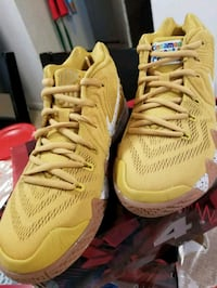 pair of yellow Nike basketball shoes Springfield, 01107