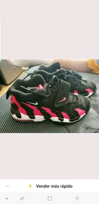 pair of black-and-pink Nike basketball shoes Riverside, 92503