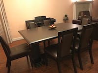Dinning Table with 6 Leather Chairs Maple Ridge, V4R 1W3
