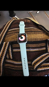 white Apple Watch with black sports band Bakersfield, 93309