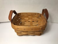 "Small Vintage Tobacco Basket (approx. 7"" x 7"" x 3"") - 19th Century"