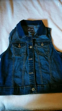 blue denim button-up vest Watsonville, 95076