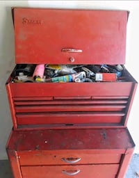 Antique Snap-On Rolling Tool Chest Box  Oldsmar, 34677