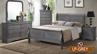 Gray wooden bedroom set