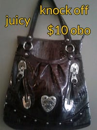 black and gray leather shoulder bag Calgary, T3B 0T3